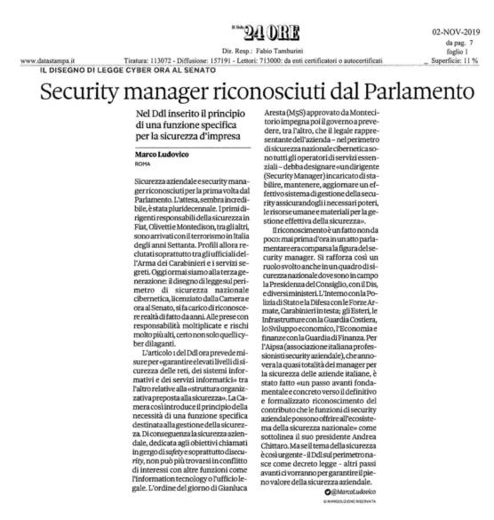 Articolo Il Sole 24 Ore_DDL Cyber.1